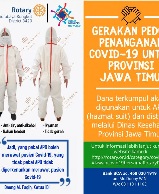 Gerakan Peduli Penanganan Covid-19 Jawa Timur