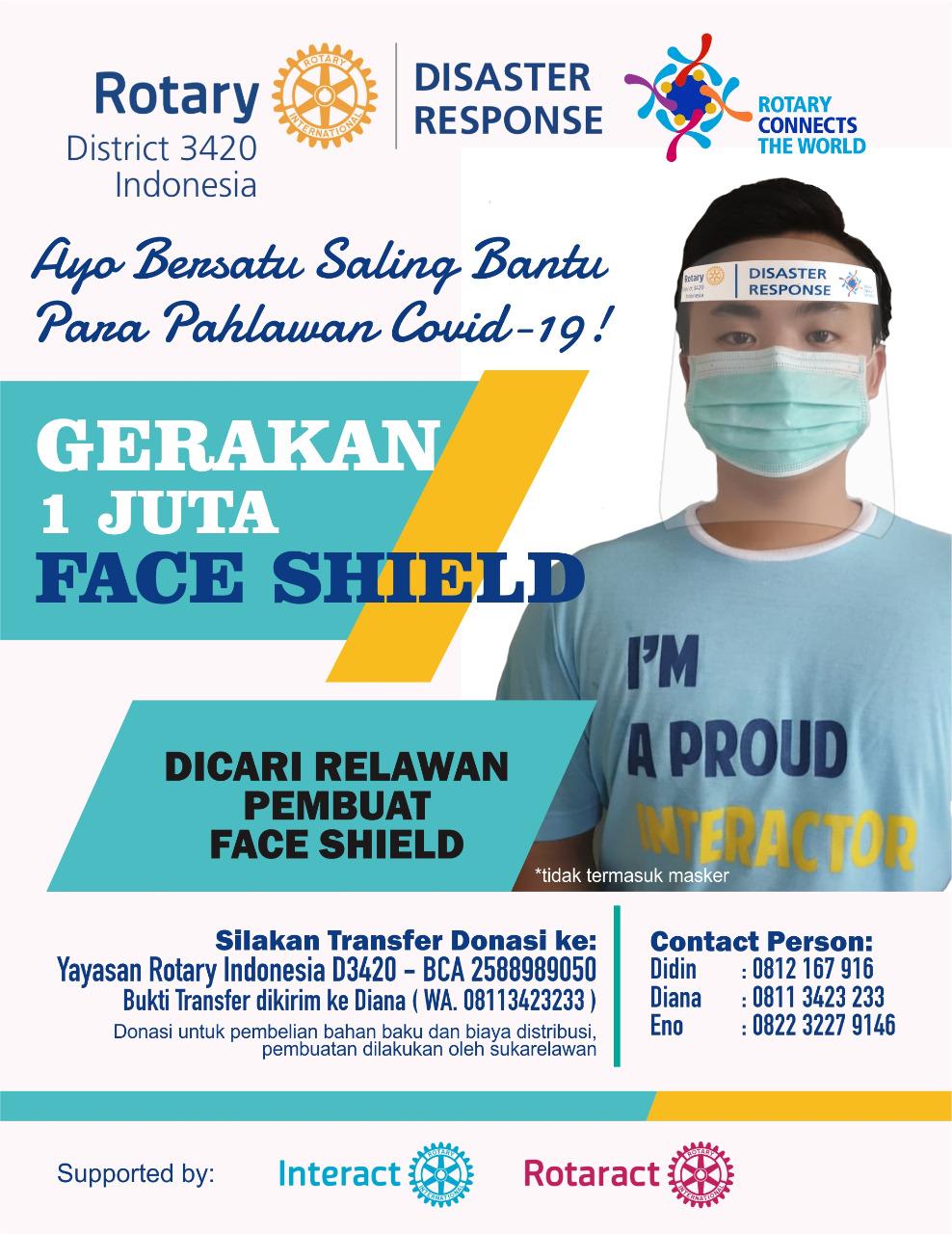 Gerakan Satu Juta Face Shields