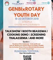 Genbi X Rotary Youth Day