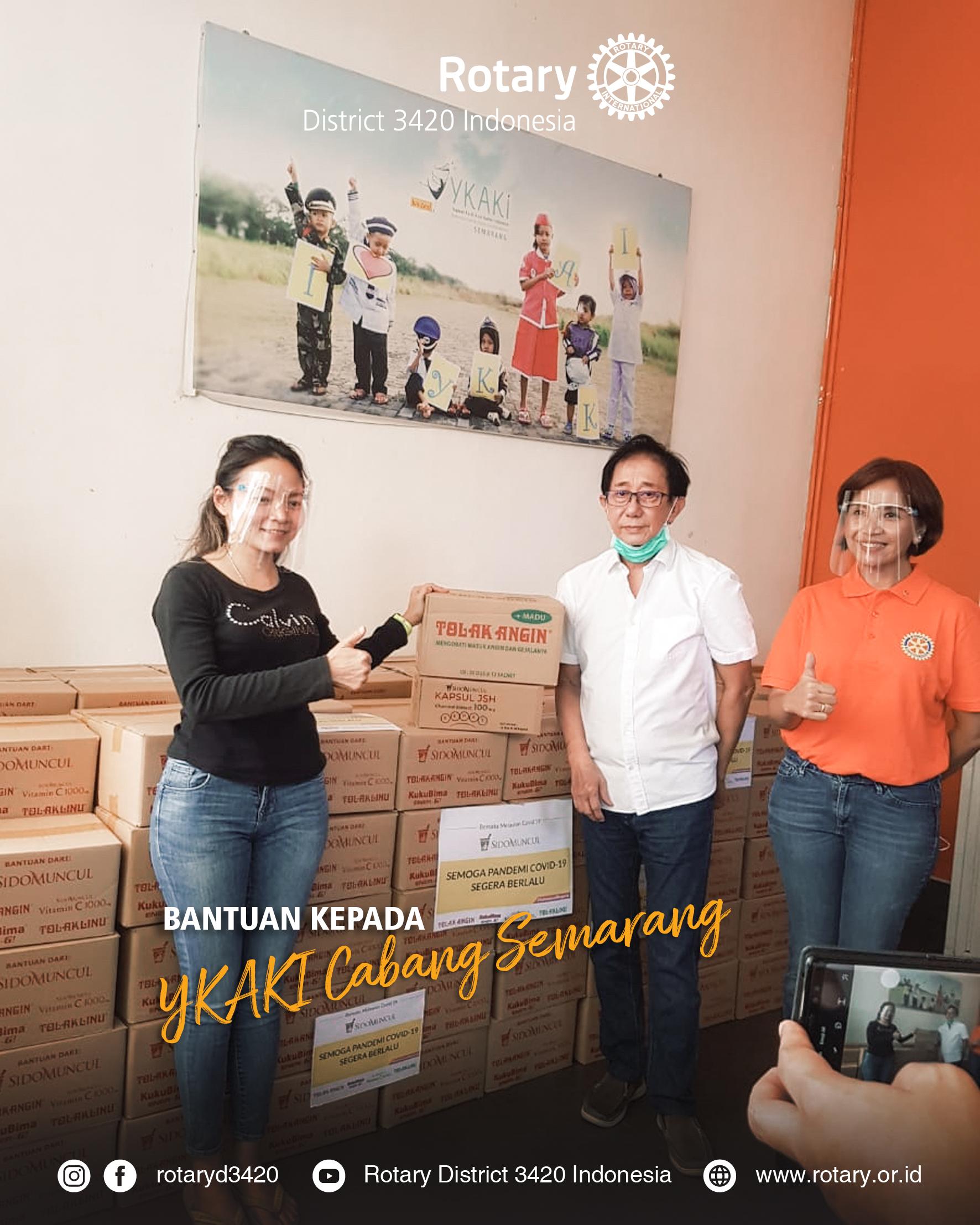 Bantuan Kepada YKAKI cabang Semarang