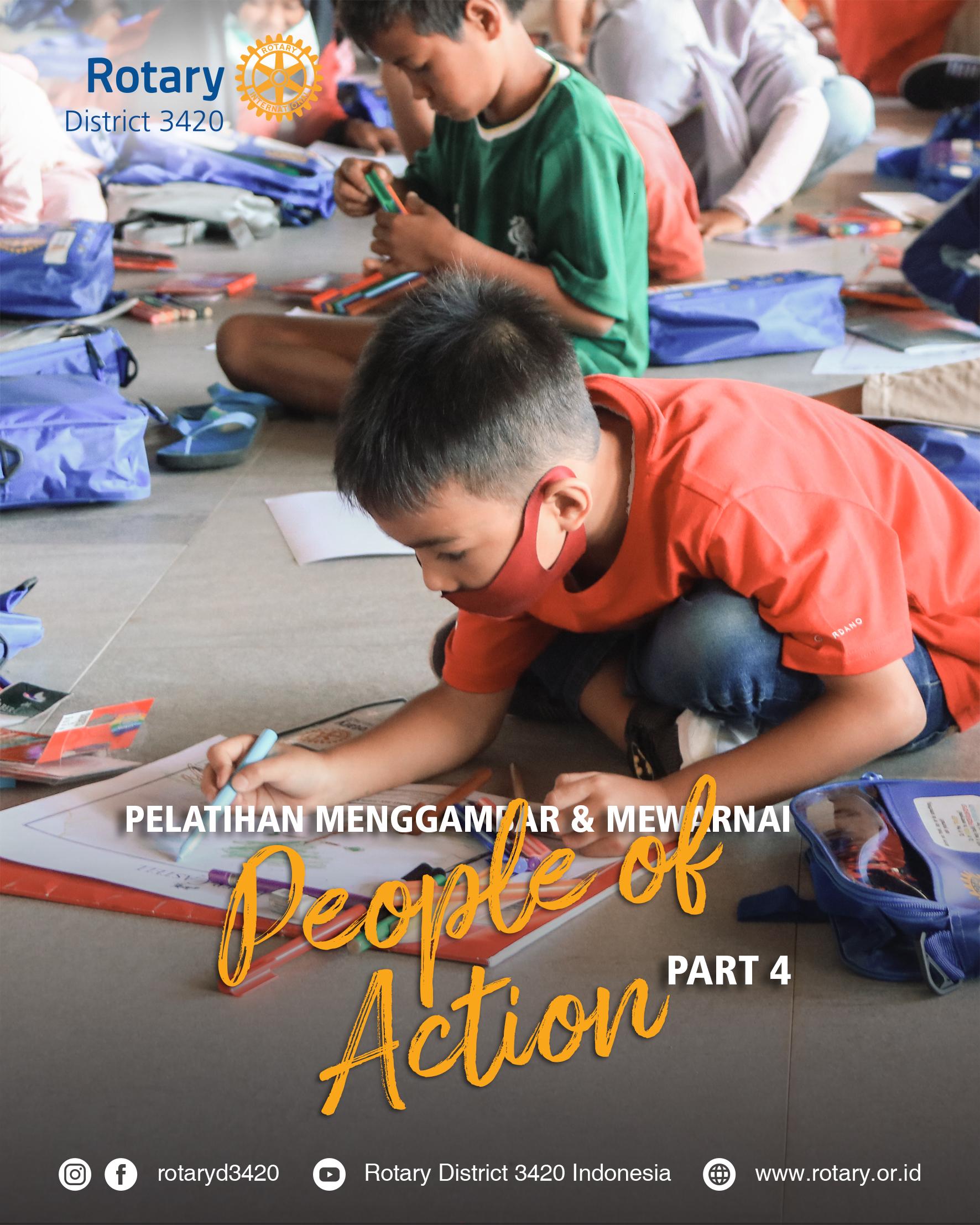 Pelatihan Menggambar Dan Mewarnai Kreatif PART 4 – Lombok Barat