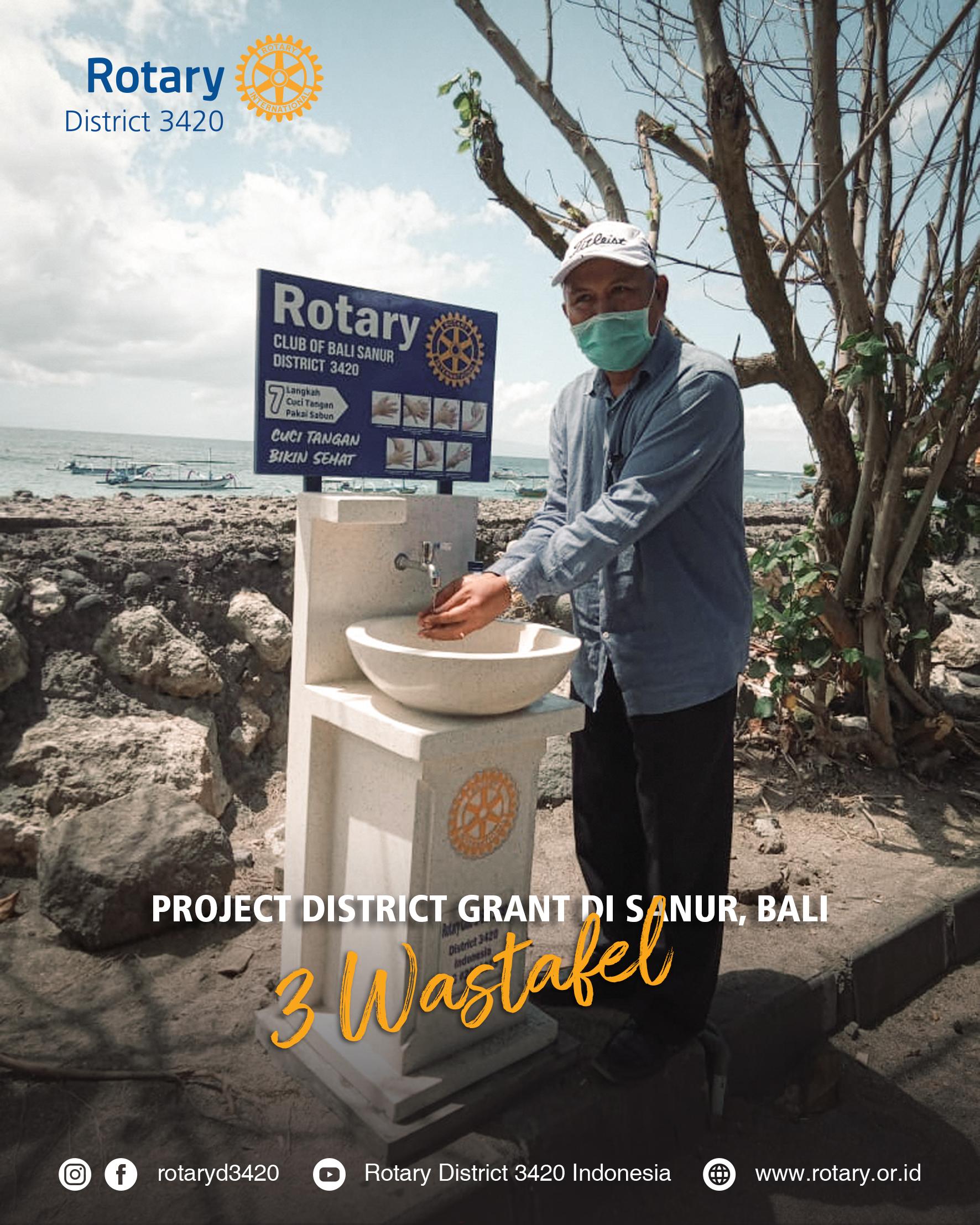 Project pengadaan 3 unit Wastafel di Sanur, Bali