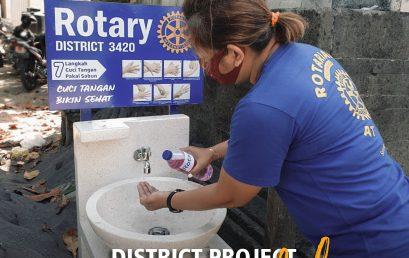 District Wastafel Project by Rotary Club of Bali Kuta