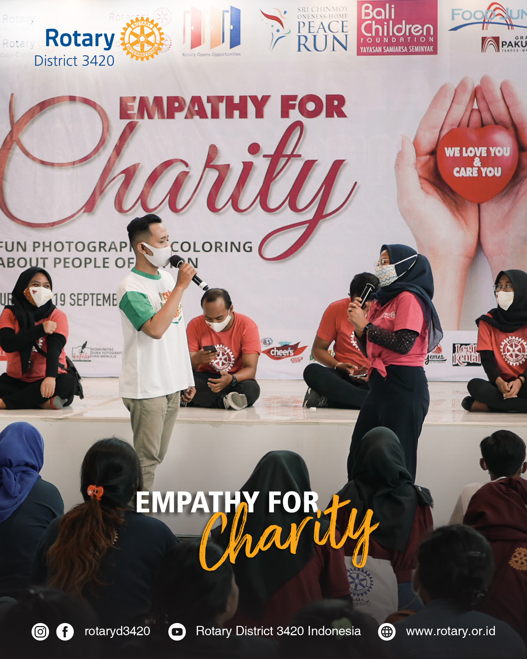 Empathy for Charity – Fun photography & Coloring about people of action