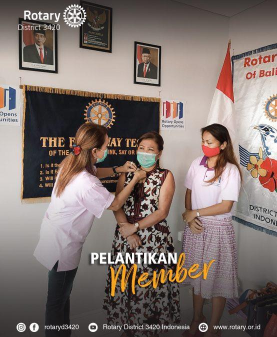 Pelantikan Member Baru Rotary Bali Taman
