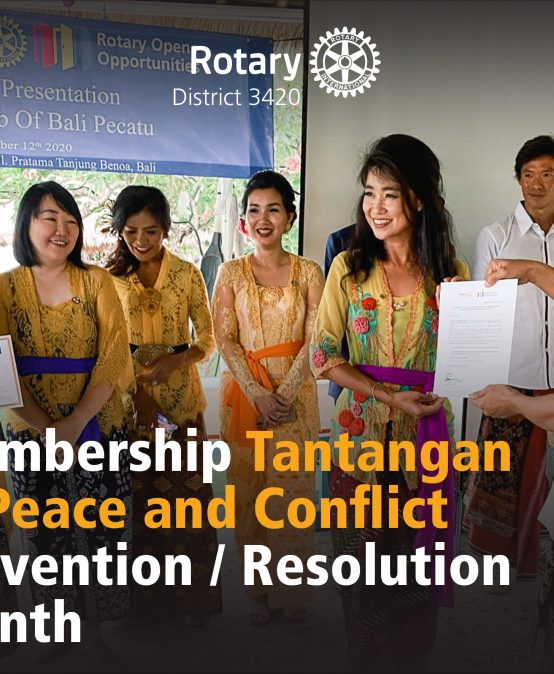 Membership Tantangan di Peace and Conflict Prevention/Resolution Month