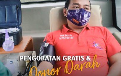 Donor Darah dan Pengobatan Gratis di Area 3 D3420, Peringatan Berdirinya Rotary Internasional ke-116