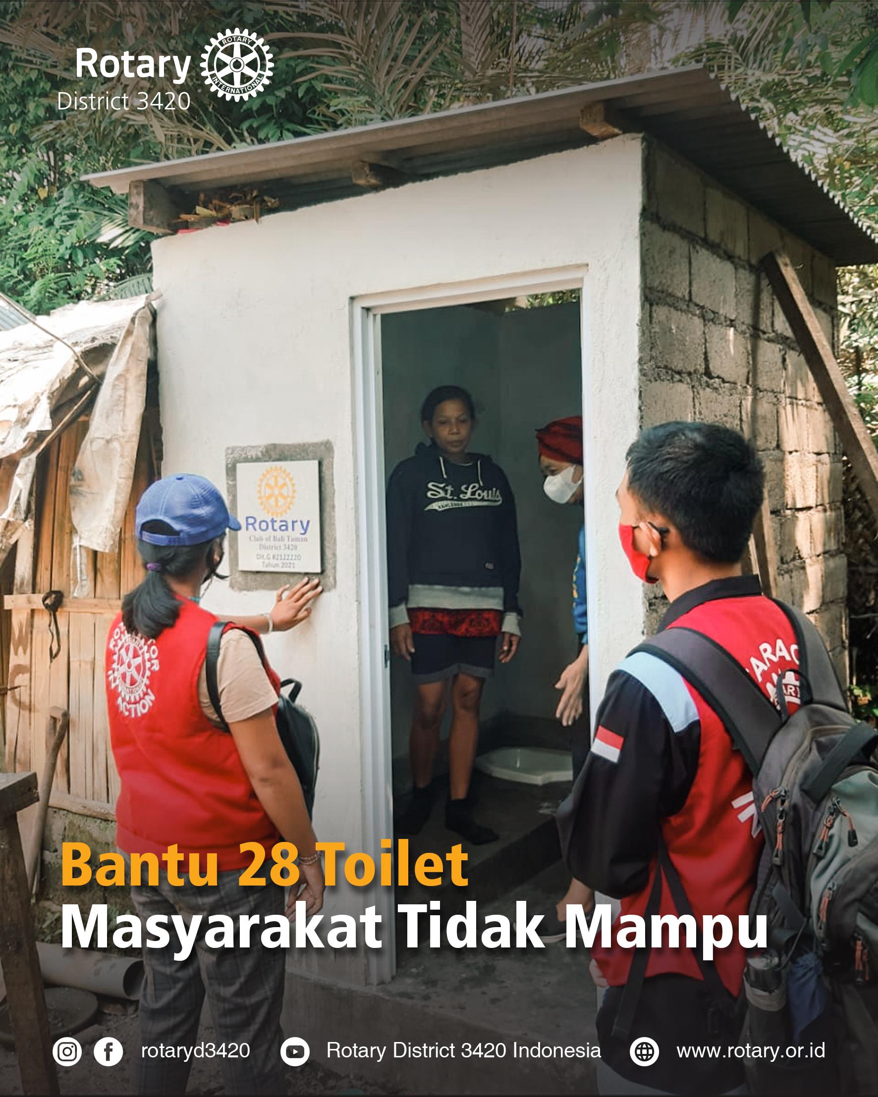 Bantu 28 toilet masyarakat tidak mampu