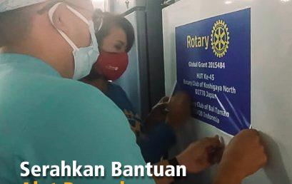 Serahkan Bantuan Alat Penunjang Tranfusi Darah RS Sanglah,