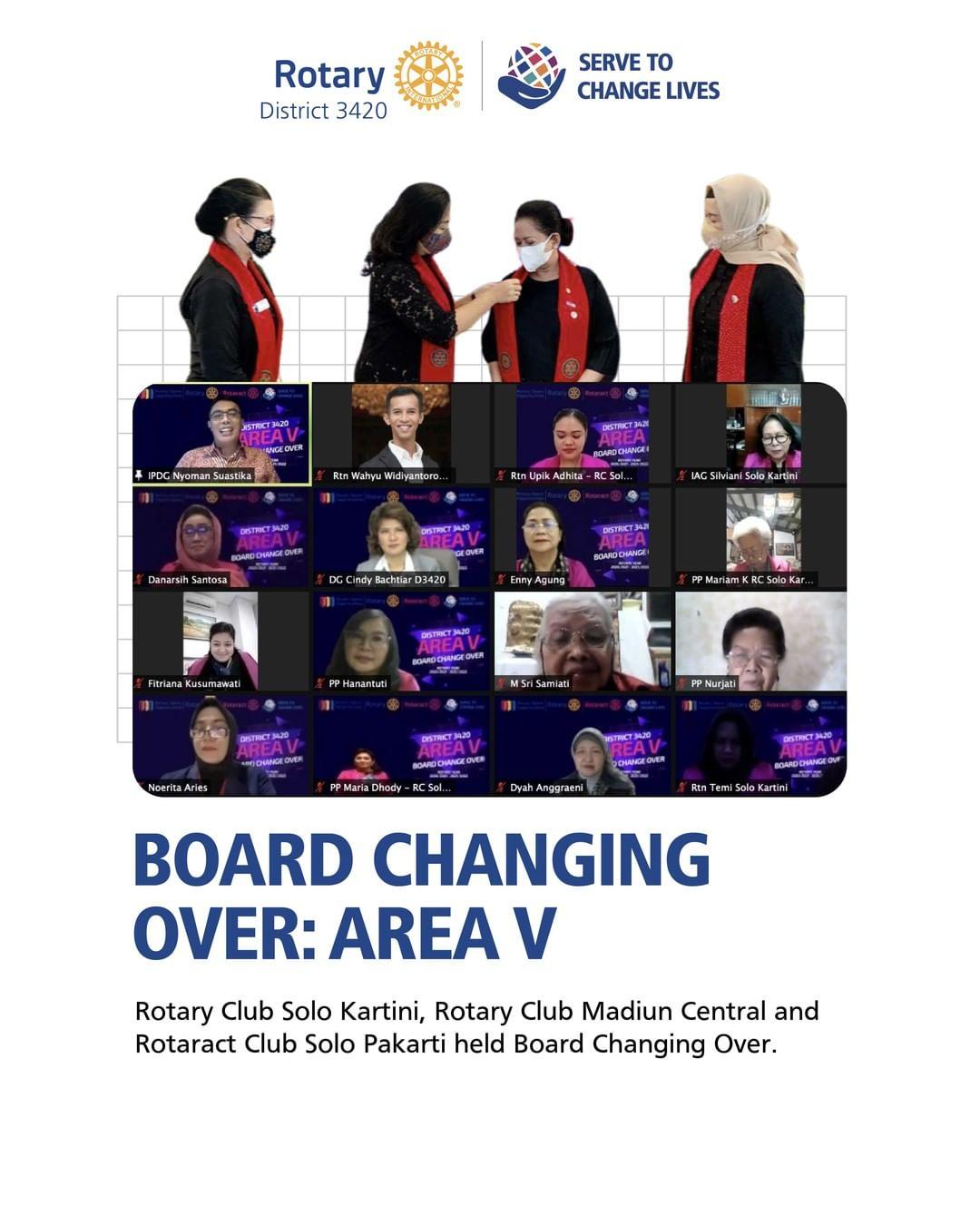Board Change Over : Area V