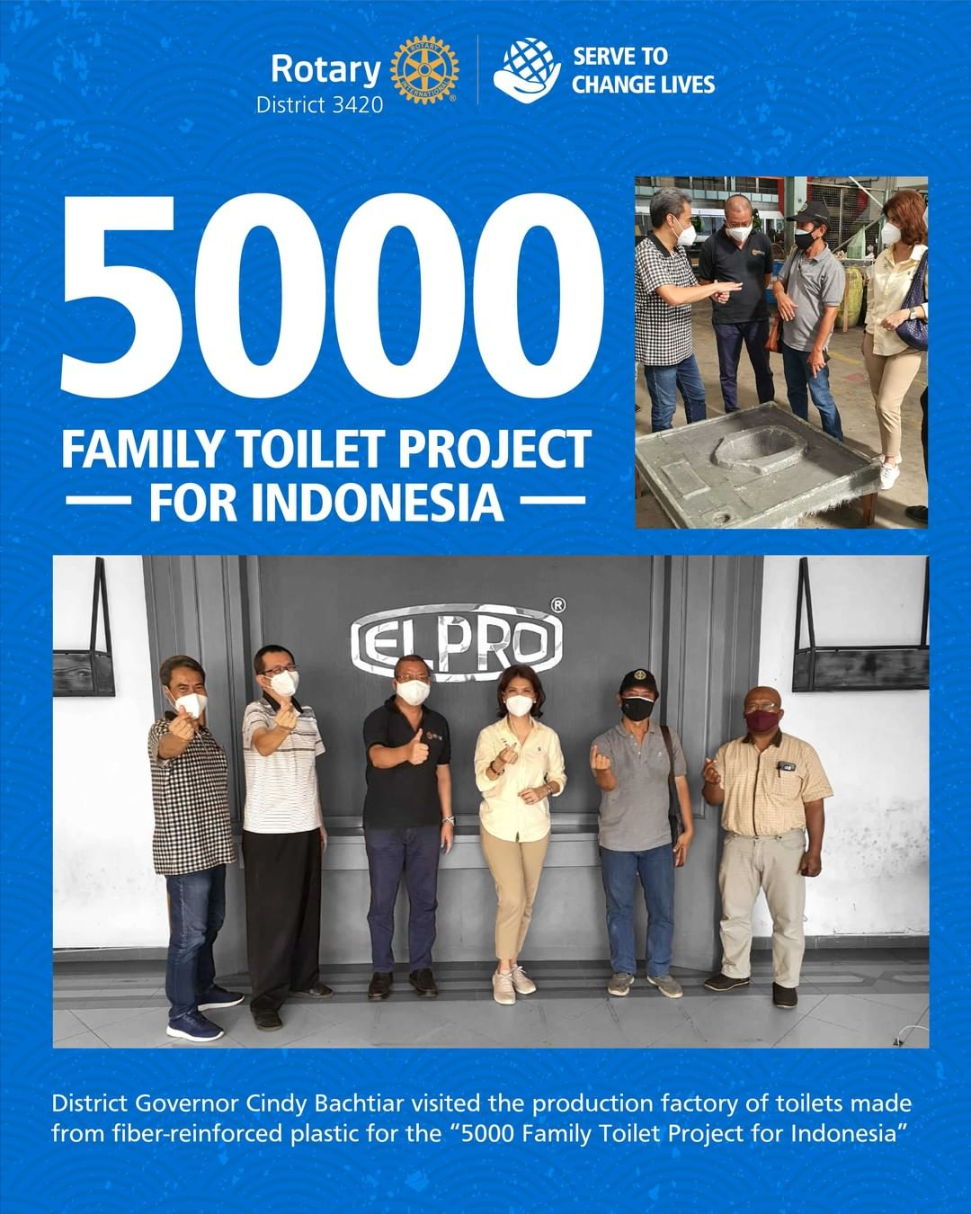 5000 Family Toilet Project for Indonesia
