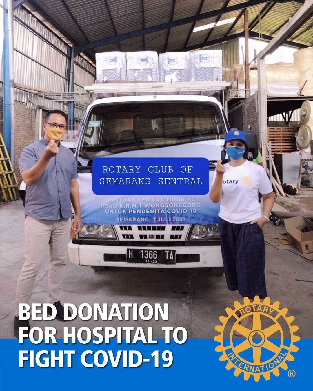 Bed Donation for Hospital to Fight Covid-19