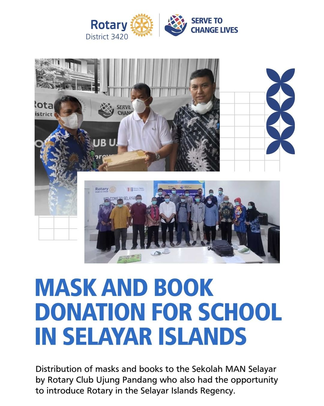 Mask and Book Donation for School in Selayar Island