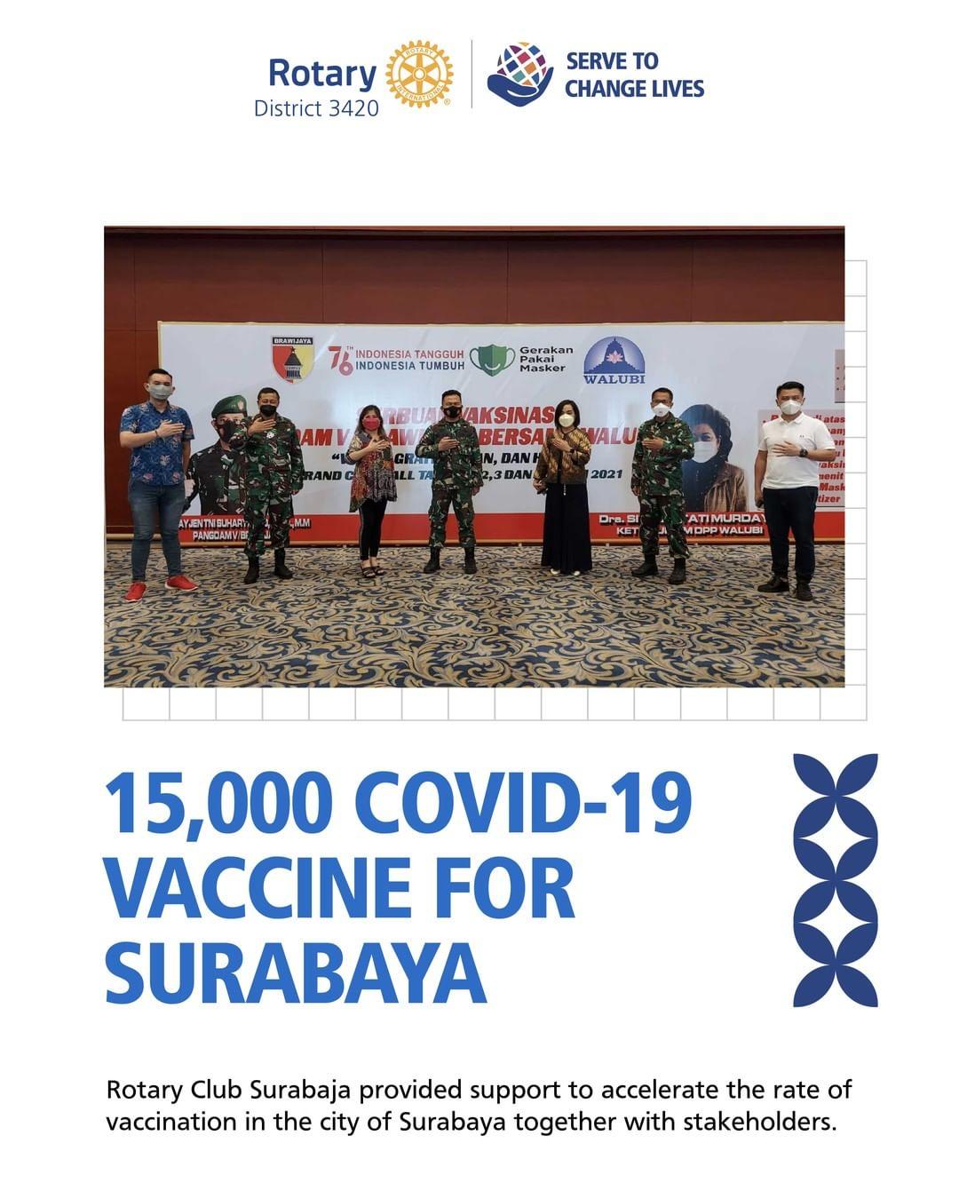 15.000 Covid-19 Vaccine for Surabaya