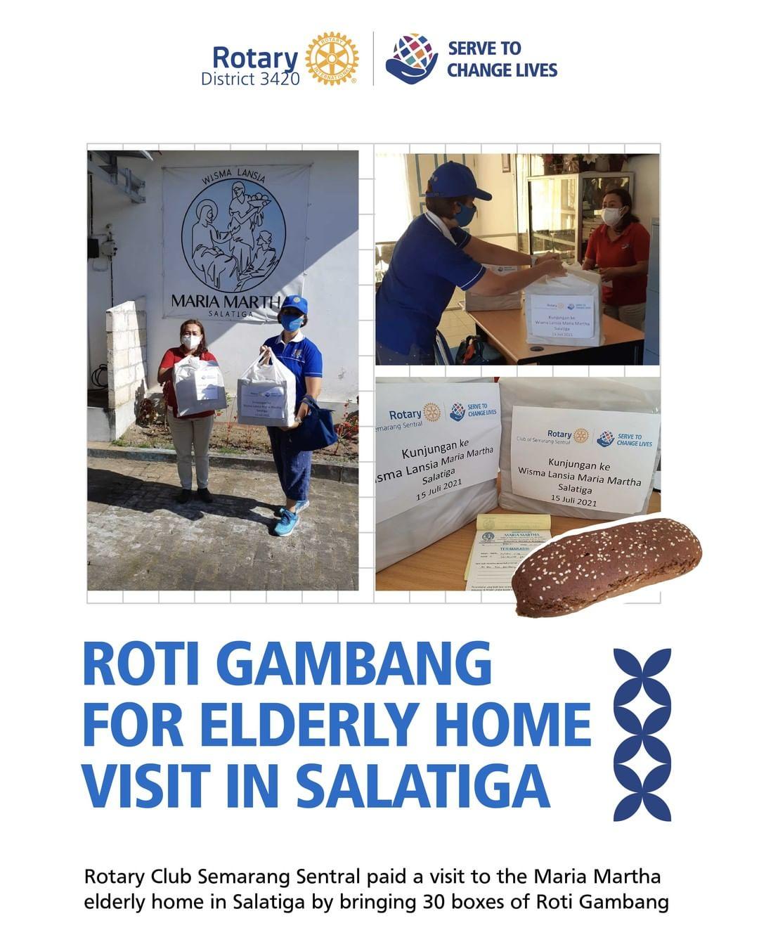 Roti Gambang for Elderly Home Visit in Salatiga