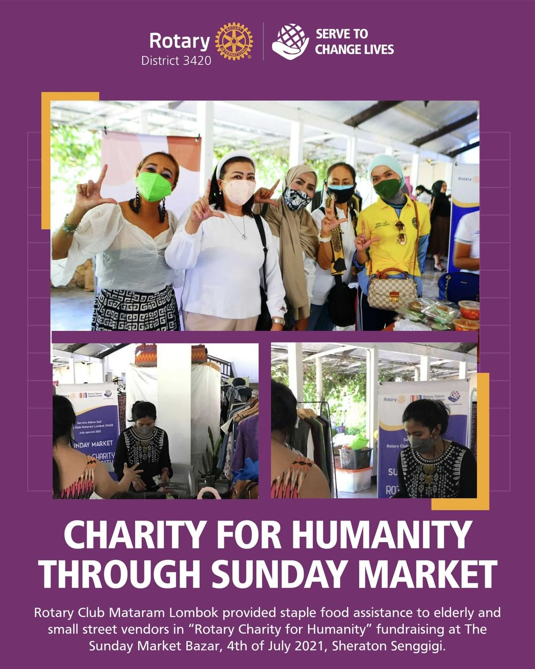 Charity for Humanity Through Sunday Market