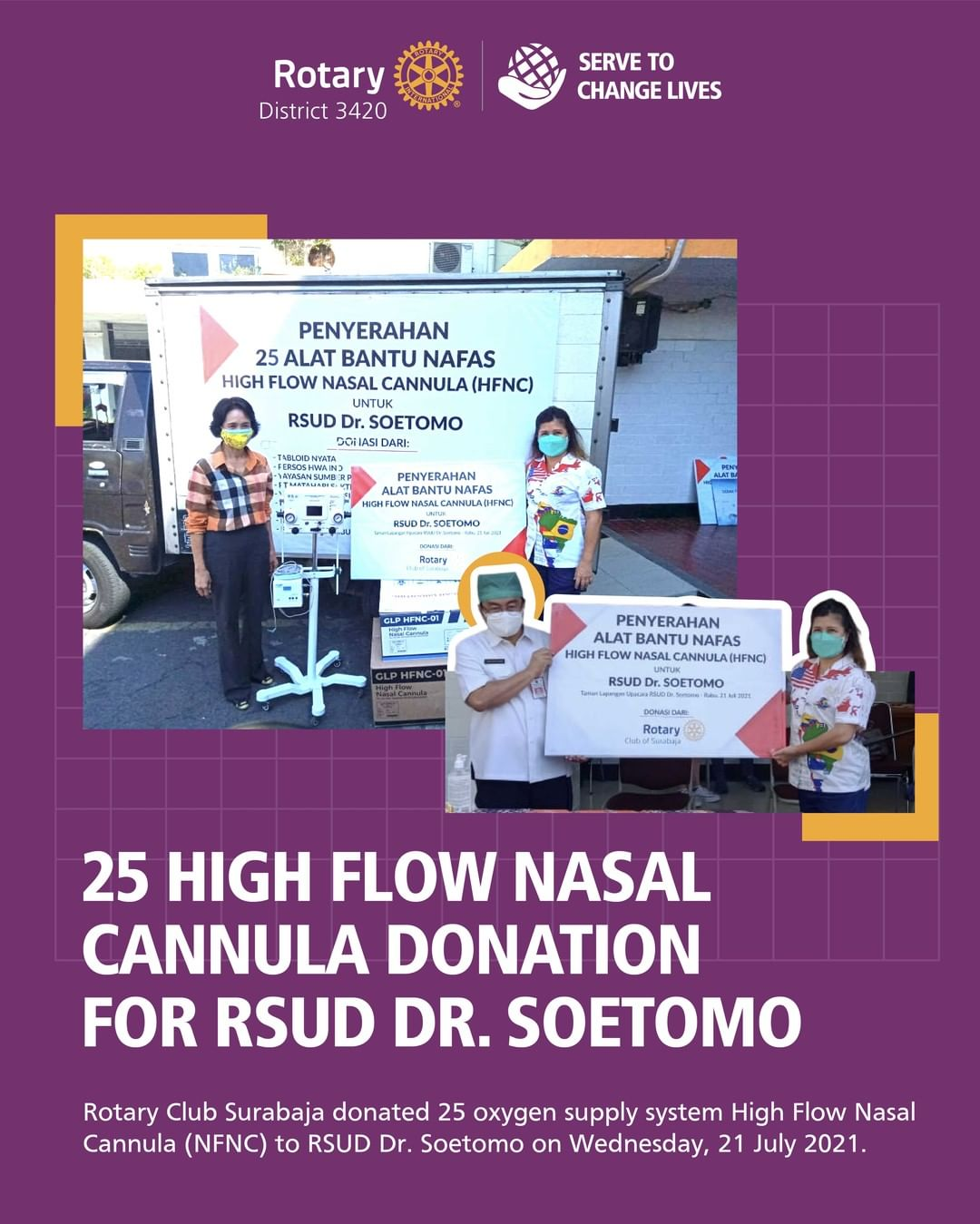 25 High Flow Nasal Cannula Donation for RSUD Dr. Soetomo