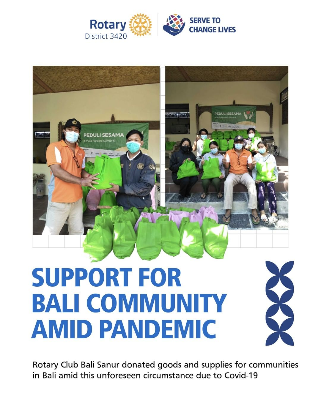 Support for Bali Community Amid Pandemic