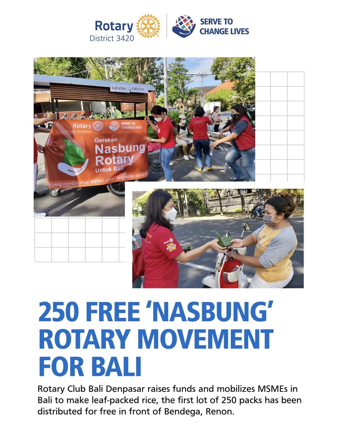 250 Free 'Nasbung' Rotary Movement for Bali
