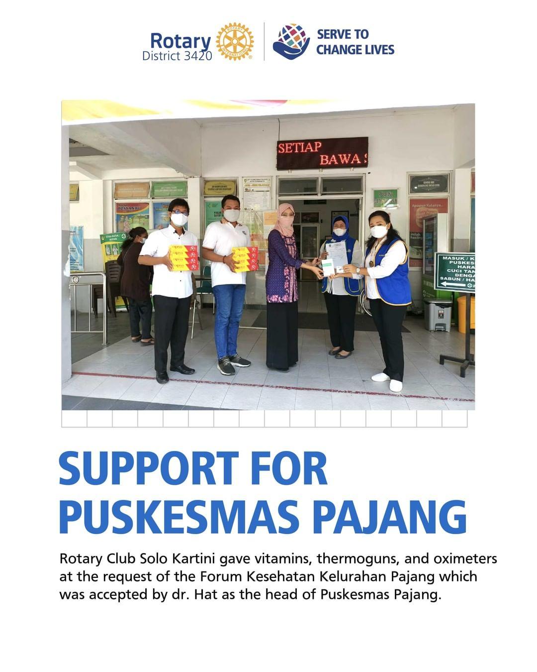 Support for Puskesmas Pajang