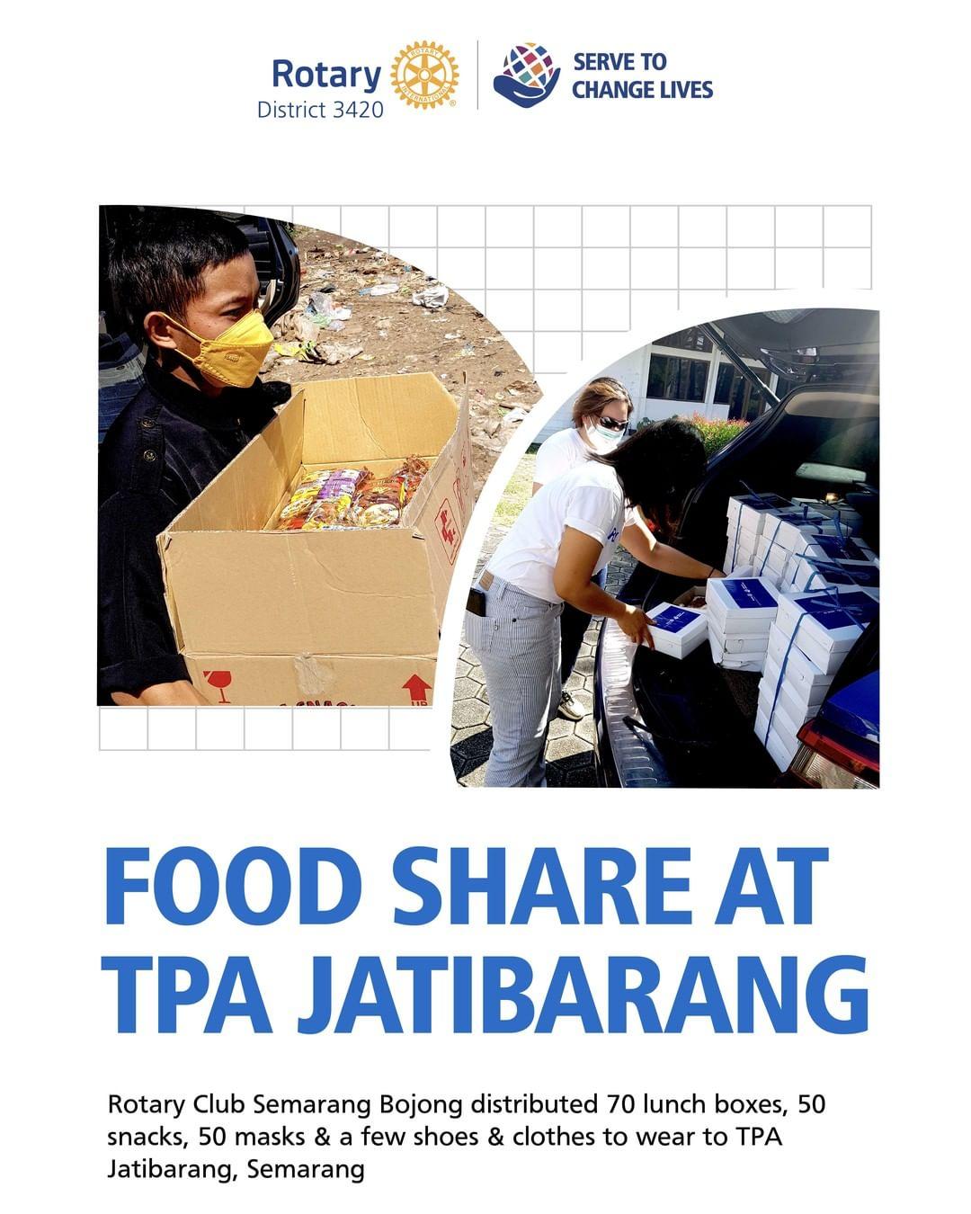 Food Share at TPA Jatibarang