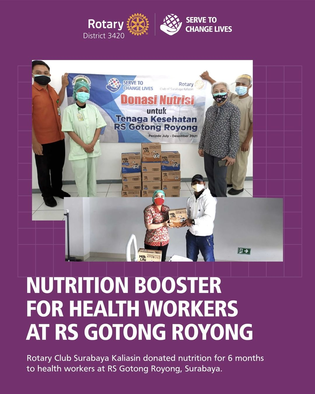 Nutrition Booster for Health Workers at RS Gotong Royong