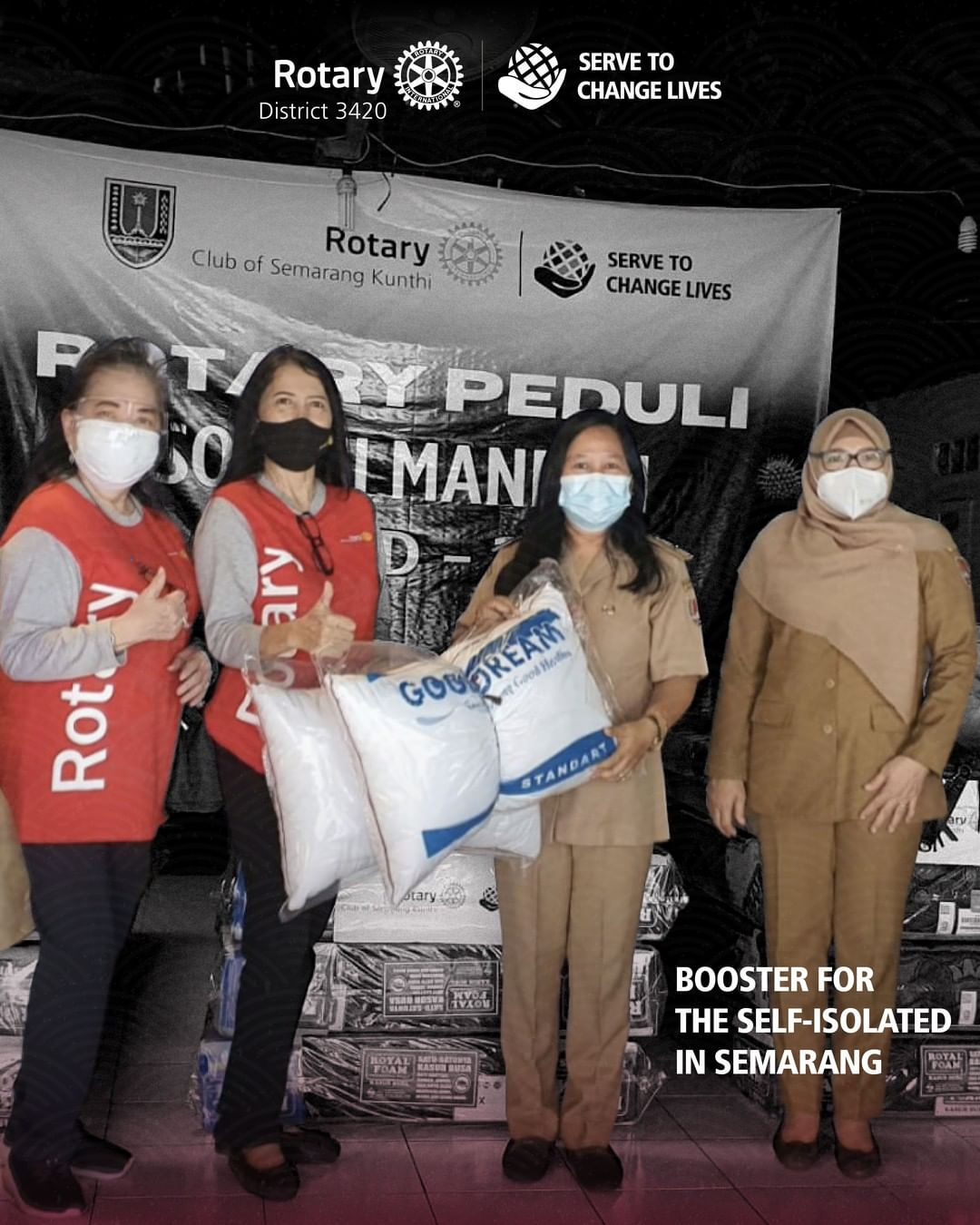 Bantuan fasilitas isolasi mandiri bagi masyarakat Kelurahan Jombang, Semarang