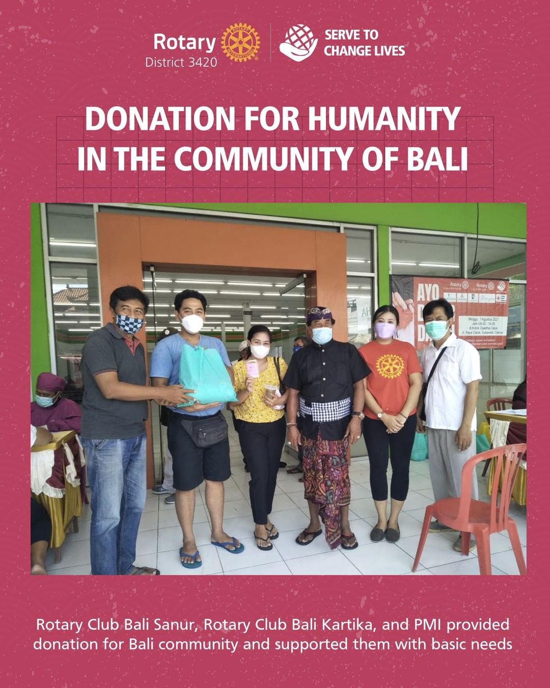 Donation for Humanity in The Community of Bali