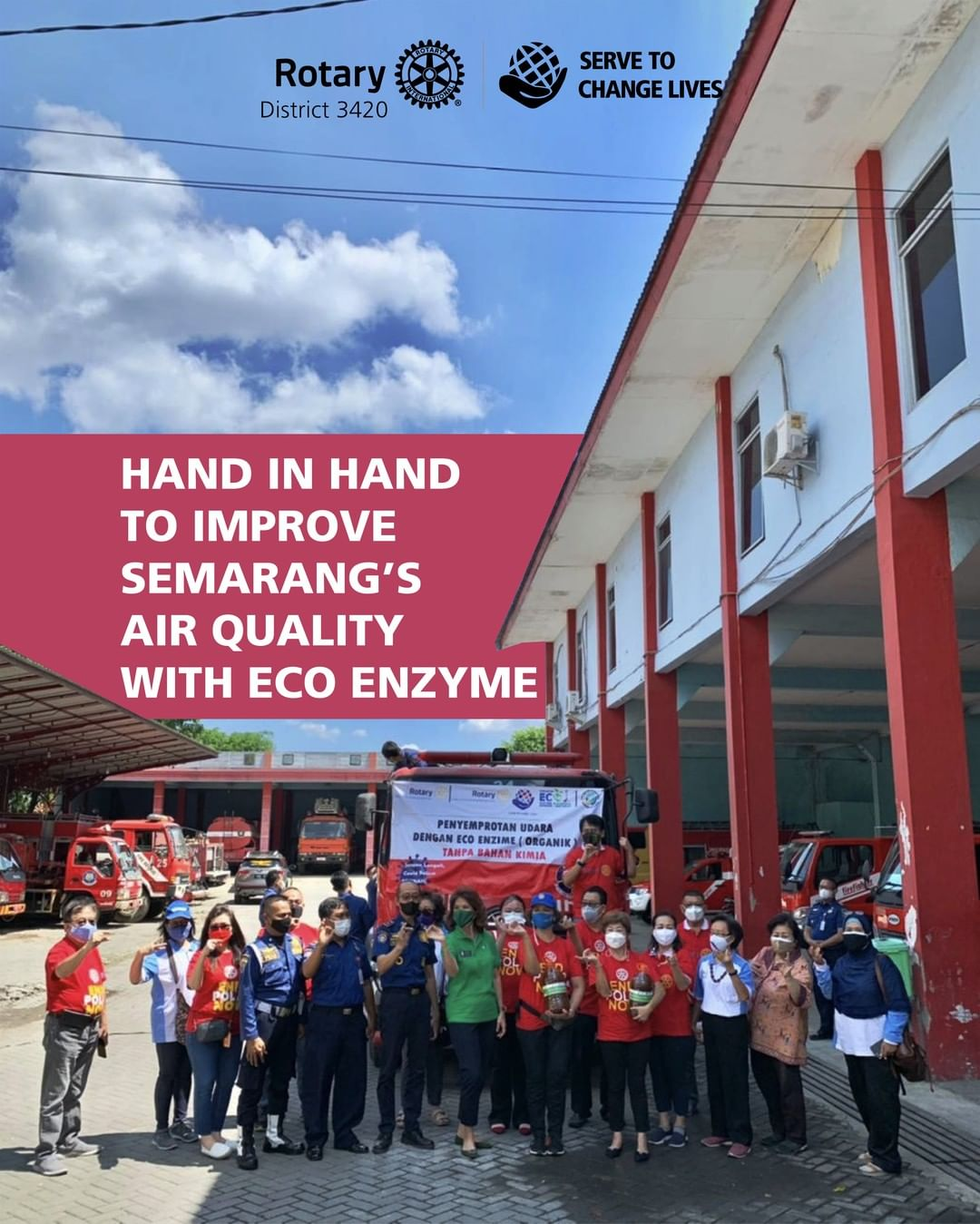Hand in Hand to Improve Semarang's Air Quality with Eco Enzyme
