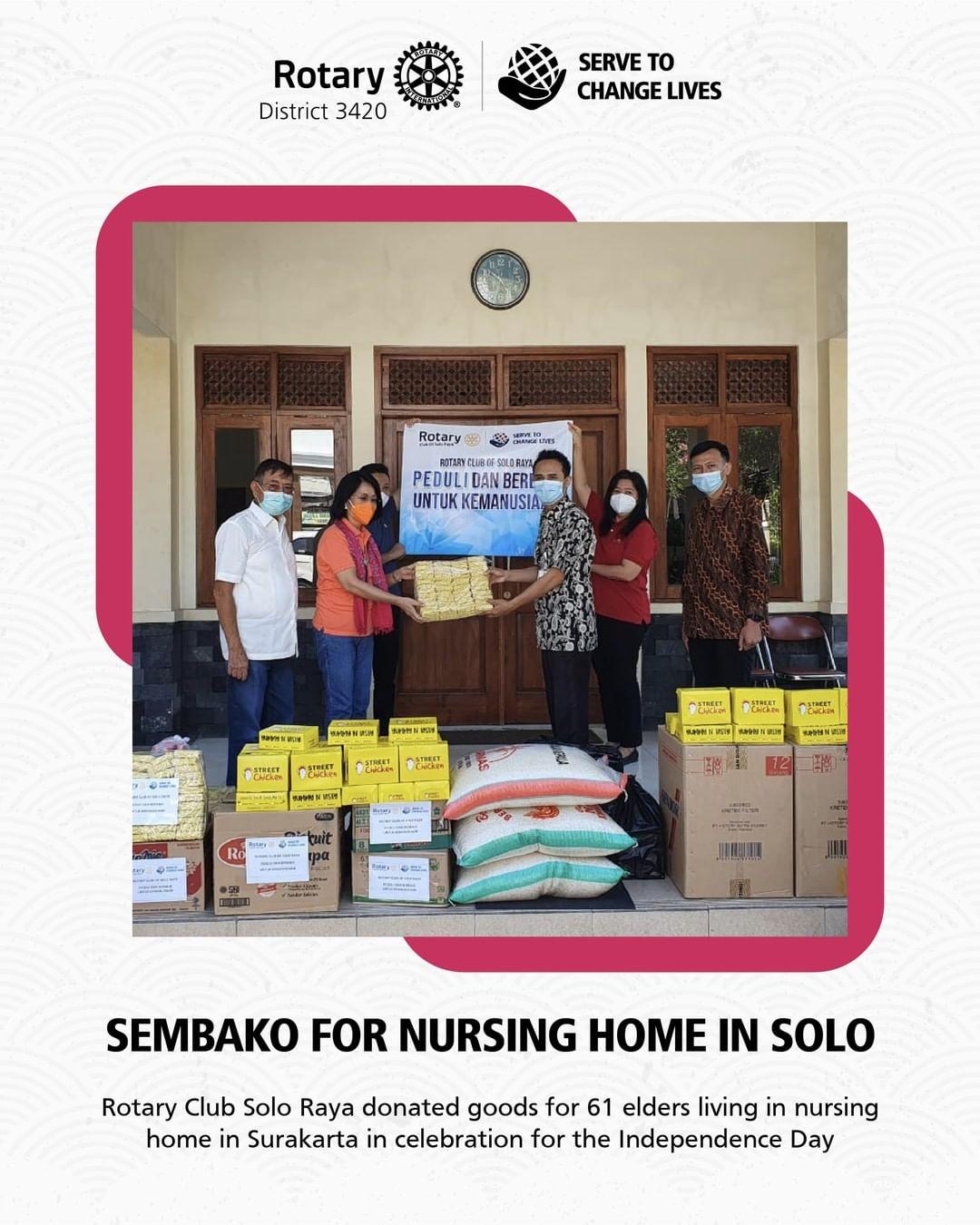 Sembako for Nursing Home in Solo