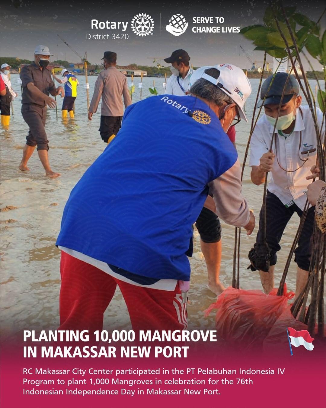 Planting 10.000 Mangrove in Makassar New Port