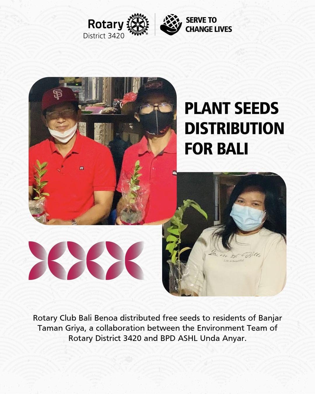 Plan Seeds Distribution for Bali