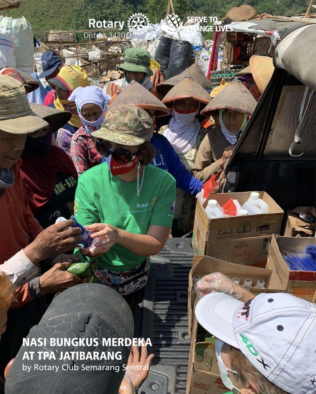 Nasi Bungkus Merdeka and Eco Enzym Demo in Semarang