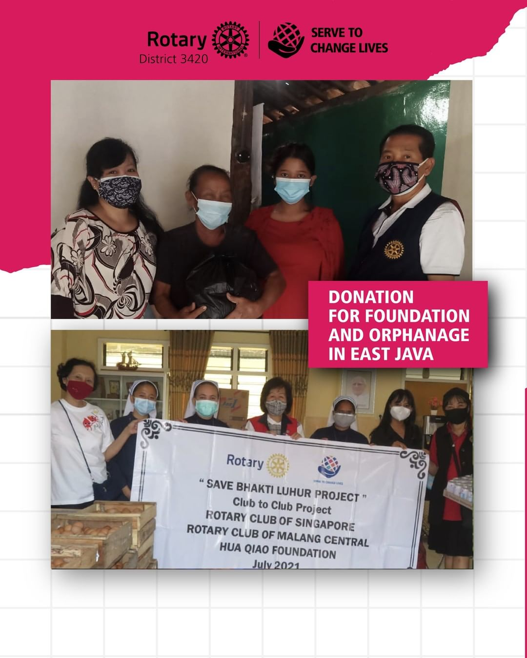 Donation for Foundation and Orphanage in East Java