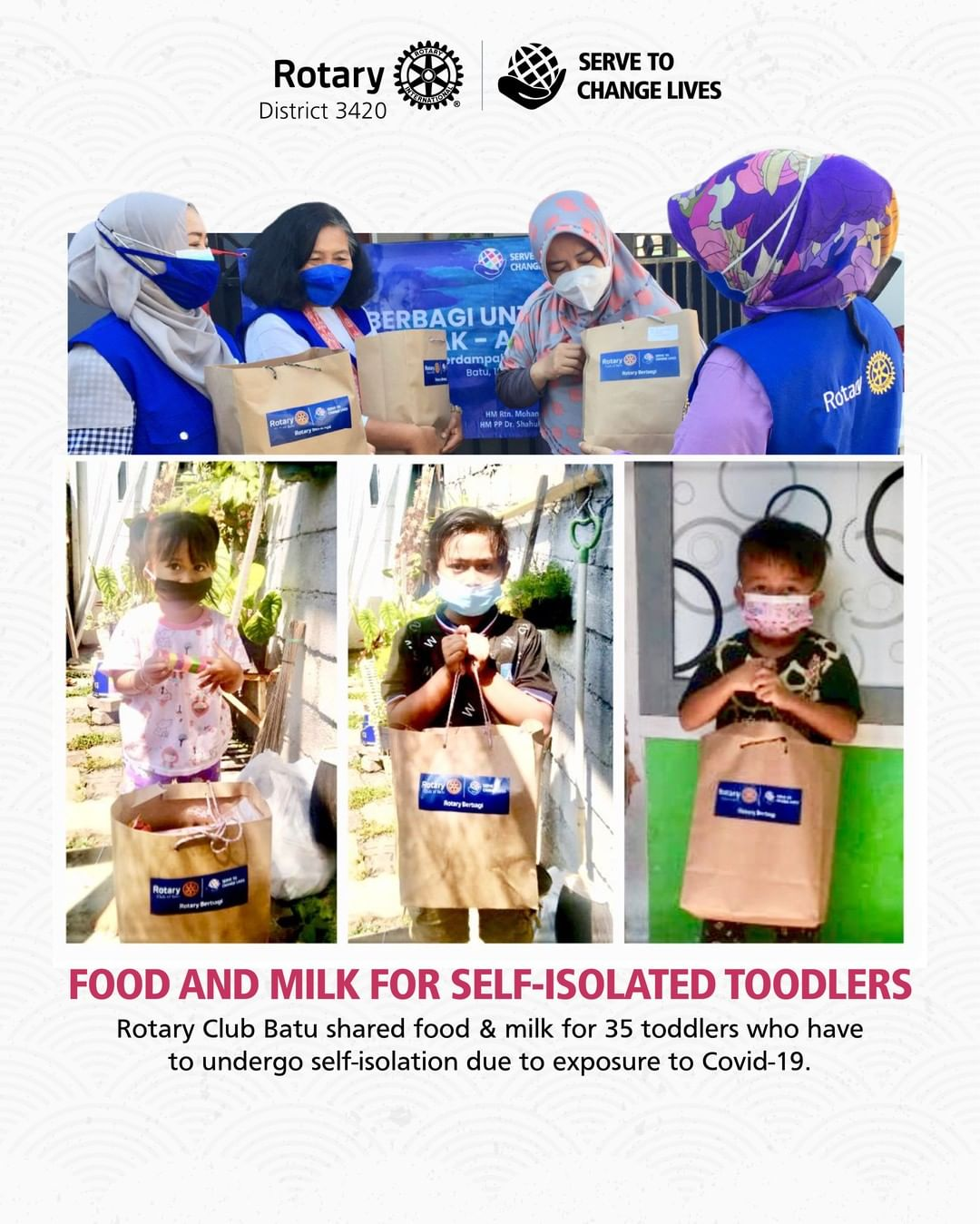 Food and Milk for Self-Isolated Toodlers