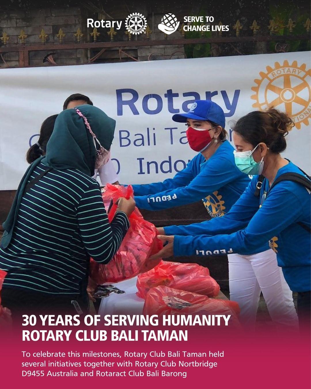 30 Years of Serving Humanity Rotary Club Bali Taman