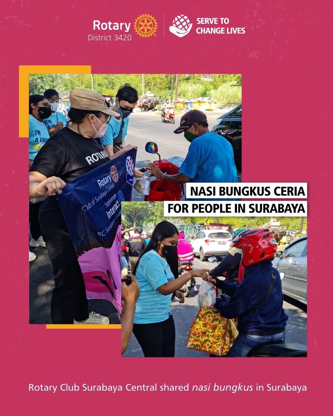 Nasi Bungkus Ceria for People in Surabaya