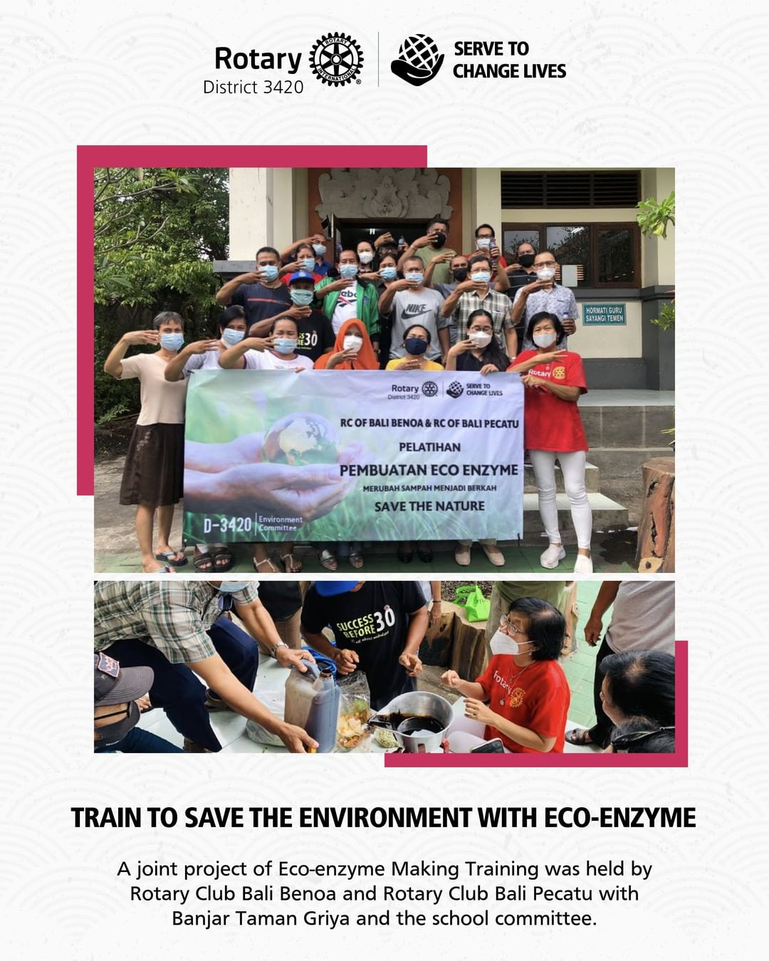 Train to Save The Environtment with Eco-Enzym