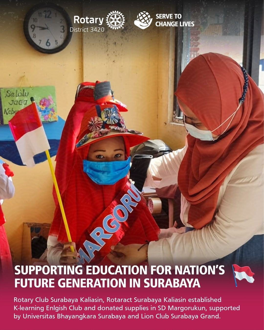 Supporting Education for Nation's Future Generation in Surabaya